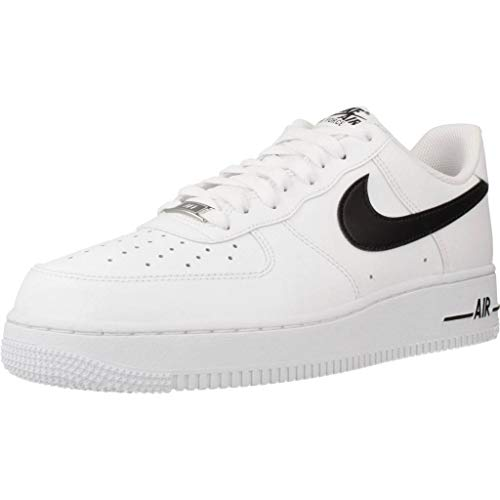 Nike Herren AIR Force 1 '07 AN20 Basketballschuh, White Black, 43 EU