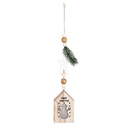 Colgante de Navidad, Decoración de Navidad Luminoso LED Luz Craft Christmas Lamp Home Colgante Adorno(Copo de Nieve)