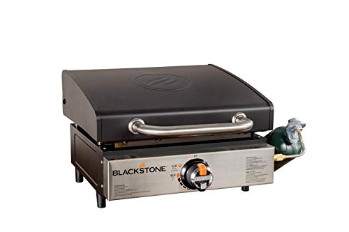 "Blackstone 1814 Tabletop Griddle-17 Inch Propane Gas Hood Portable Flat top 17"" Griddle-Rear Grease Trap for Kitchen, Camping, Outdoor, Tailgating, or Picnicking, 17 Inch, Black"
