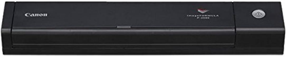 Canon imageFORMULA P-208II  - Escáner portátil  de documentos ( 8 ppm, 10 hojas ADF, Interfaz estándar  USB 2.0, Fuentes de luz LED), Negro