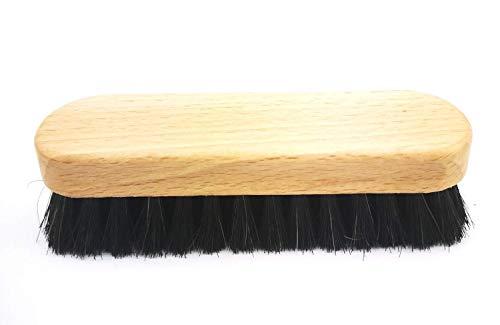 HEBOLD Schuhmacherei Midi Schuhputzbürste Glanz-und Polierbürste Rosshaar Made in Germany: Farbe: Rosshaar schwarz