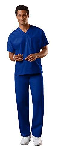 Cherokee Uniforms Authentic Workwear Unisex Scrub Set (Galaxy Blue - Small / Small Short)