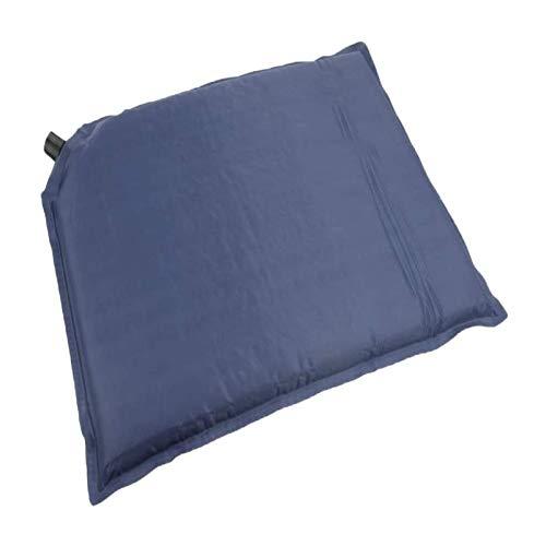 JIAHU Perfeclan - Cojín compacto autoinflable para asiento de estadio, para deportes al aire libre, viajes, camping, mochilero, 40 x 30 x 3 cm, color azul