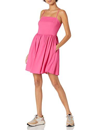 Goodthreads Georgette – Minikleid mit Gesmoktem Rücken Kleid, Shocking Pink, M