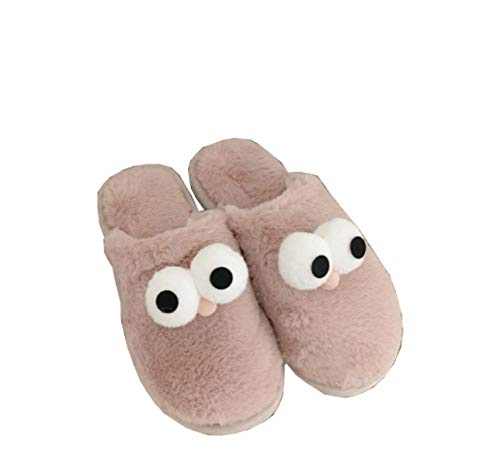 KIKIGO cotton slippers,Cute cotton shoes for indoor warmth in winter, ladies plush warm soft lining winter shoes.-Lotus color_40