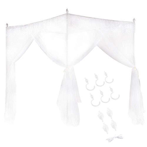 Sängdraperi, andningsbar slitstark säng, spetsdesign Polyester maskintvätt kvinnor för sovrum damflickor (150200200)