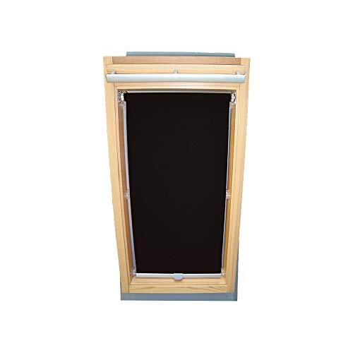 Rollo für VELUX Dachfenster Abdunkelungsrollo für TYP GGL/GPL/GGU/GPU - CK02 - Farbe schwarz - mit Haltekrallen