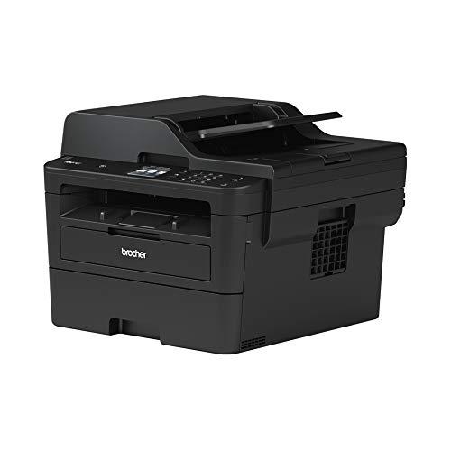 Brother MFCL2750DW, Impresora Multifunción Láser Monocromo con Fax Y Dúplex En Todas Las Funciones, USB, WiFi, Ethernet, Negro