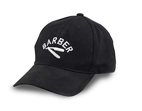 BarberMate Baseballmütze mit Barber-Logo, bestickt, Einheitsgröße - Schwarz - Medium