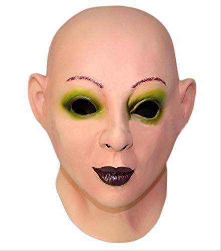 tytlmask realistische vrouw gezicht sissy masker, scharlaken kaal menselijk gezicht latex masker, voor partij Fancy jurk kostuum vrouw masker