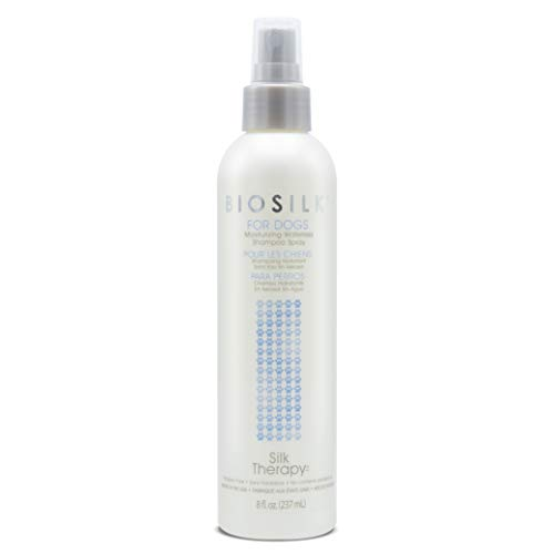 BioSilk for Dogs Silk Therapy Deep Moisture Waterless Shampoo Spray | Best Waterless Shampoo Spray for All Dogs & Puppies, 8 oz (FF7118)