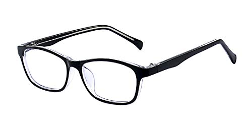 Outray Kids Classic Rectangle Clear Lens Glasses Frame for Boys and Girls (2186c5,Black, 47)