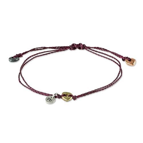 Handcrafted Zamac Beads Maroon Bracelet Corn is Life