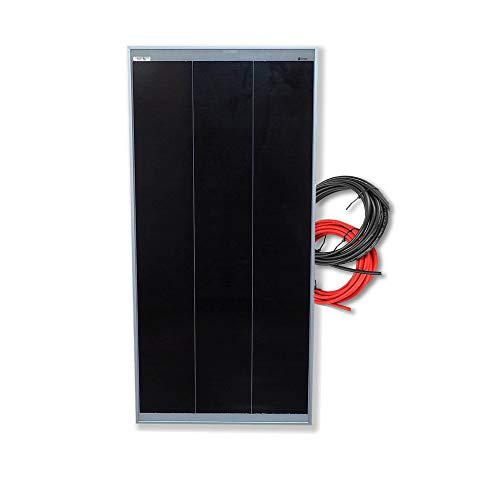 Panel solar monocristalino 100W 12V cable 5 metros Tecnología SHINGLED