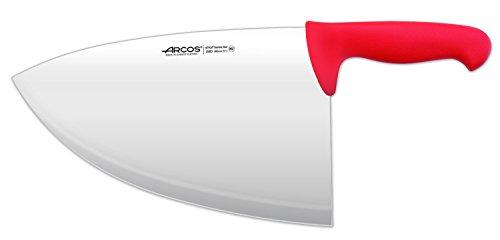 Arcos Serie 2900, Chuletera, Hoja de Acero Inoxidable Nitrum de 280 mm, Mango inyectado en Polipropileno Color Rojo