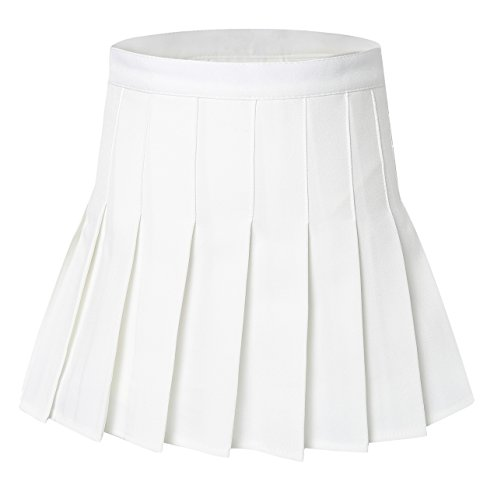 Tremour Women High Waist Solid Pleated Plus Size S...