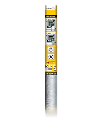 Schellenberg 58100 Alu-Fliegengitter, Insektenschutz aus Aluminium 100 x 250 cm, Rolle zum selbst zuschneiden