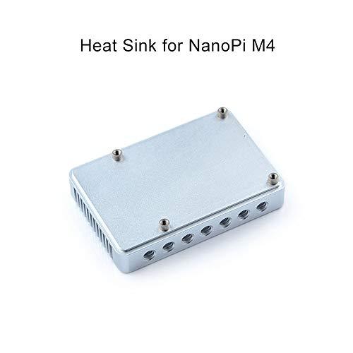 FriendlyARM NanoPie M4 2GB DDR3 Rockchip RK3399 SoC 2.4G & 5G Dual Band WiFi, Compatible con Android y Ubuntu, AI y Aprendizaje Profundo NanoPi M4 Heat Sink