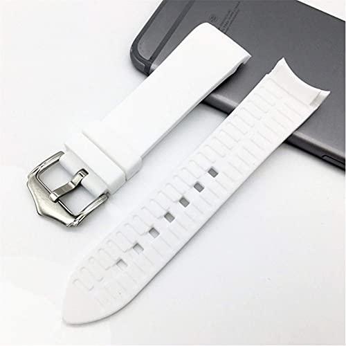 Correa de reloj de silicona de 18 mm, 20 mm, 22 mm, 19 mm, 21 mm, 24 mm de silicona suave universal de goma curvada codo deportivo pulsera
