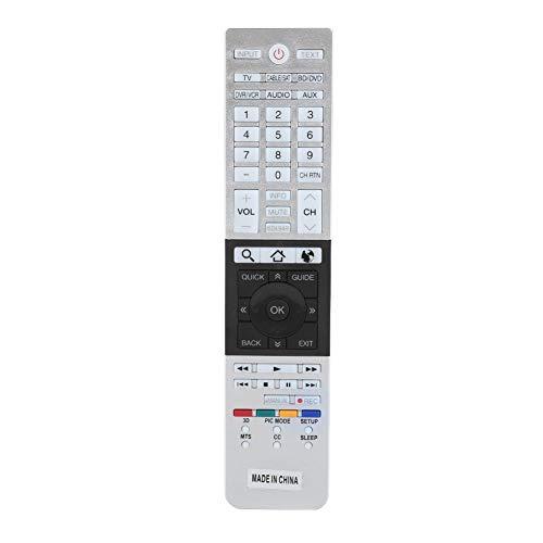 Mando a Distancia de Smart TV para Toshiba, Mando a Distancia de Smart TV HD Original de Repuesto para Toshiba CT-90430 CT-90429 CT-90427 CT-90428 CT-90444 4K Ultra HD TV (Plateado)