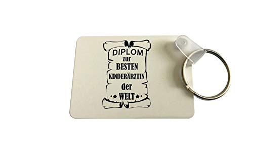 Llavero Rectangular, Diplom para Besten Trabajador Social del Mundo, Colega, Job, Trabajo - Diplom Doctora de Niños, 40 x 57 x 1mm