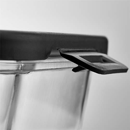 IDEALCRAFT 耐熱ガラス 保存容器 漏れしない パック&レンジ弁当箱 ステンレスフタ 大容量 角形 1040ml