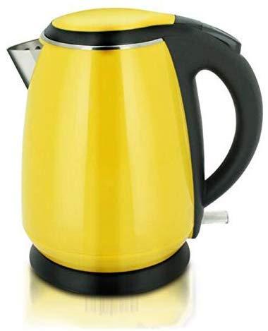 Bollitore elettrico giallo elettrico 304 commestibile per uso domestico in acciaio inossidabile spegnimento automatico 1.2L 1500W facile da spostare , Bollitore elettrico per la casa ad ebollizione r