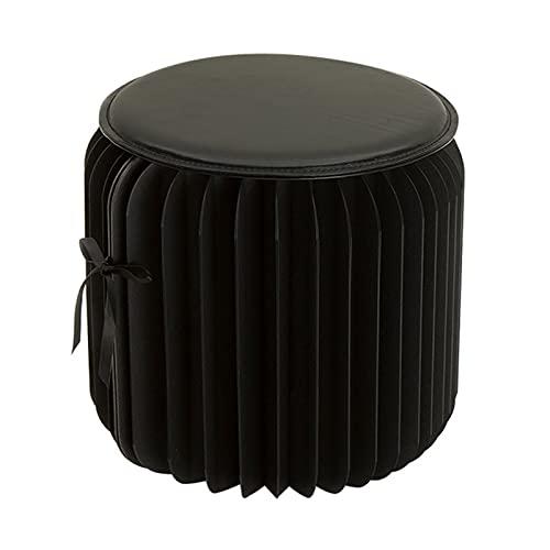 QSJY Taburetes Plegables Negro -, 11 Pulgadas Altas, para Taburete de Robo de Zapatos/Mesa de café, con una Mesa a Unos 19.68 Pulgadas Altas (Size : 12.6×12.6×11 Inch)