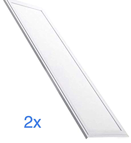 (LA) Pack 2x Panel LED Slim 120x30 cm, 48w, Color Blanco frio (6500K), 4000 lumenes reales. (Blanco Frio (6500K)) (2)