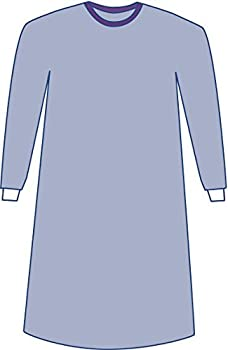 Medline DYNJP2002SH Sterile Non-Reinforced Sirus Surgical Gowns with Set-in Sleeves X-Large Blue