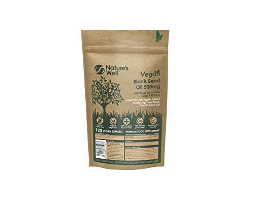 Black Seed Oil Soft Gel Capsules,120 (Non-GMO & Vegetarian 500mg), Egyptian Cold Pressed Nigella Sativa Black Cumin Seed Oil – Vegan and Halal & Kosher