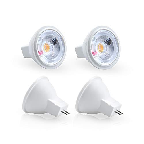 Lámpara LED Bonlux 12V MR11 GU4, 3W 12V GU4 Foco G4 Lámpara de base de dos clavijas 30W MR11 GU4 Equivalente a halógeno, blanco cálido 3000K, paquete de 4