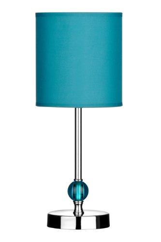 Premier PREM-2501499 Lampada da Tavolo, Acrilico/Metallo Cromato, Blu