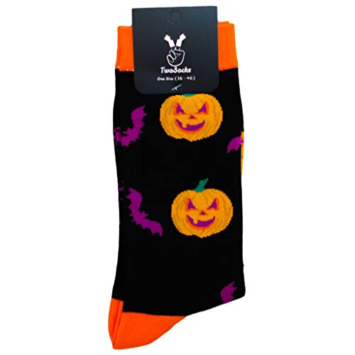 Preisvergleich Produktbild TwoSocks lustige Socken / Damen & Herren / witzige Halloween Strümpfe als Geschenk / Baumwolle / Einheitsgröße