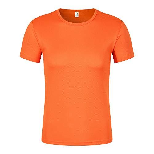 MedusaABCZeus Atmungsaktives Tank T-Shirt,Schweißabsorbierend und atmungsaktiv, Männer und Frauen mit T-Shirt-Orange_S,Herren Shirt Uv Schutz