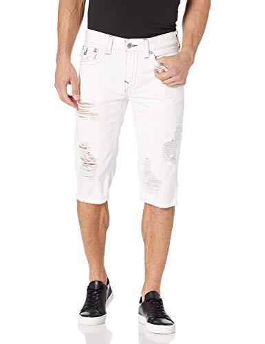 True Religion Men's Cut Off Straight Leg Short with Back Flap Pocket, DSW Never Ending, 34