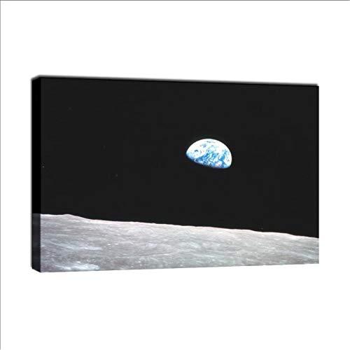 GUOHUAN Apollo 8 Erdaufgang vom Mond Poster, dekoratives Gemälde, Leinwand, Wandkunst, Wohnzimmer, Poster, Schlafzimmer, Malerei, 20 x 30 cm