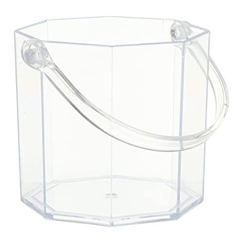 PIXNOR Cubo de Hielo Acrílico Cubo de Hielo Transparente Cubo Enfriador de Vino para Bar de Fiesta en Casa
