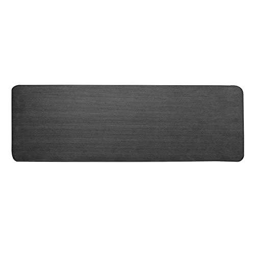 ZZRTEC Esterilla de Yoga,TPE Esterilla Deporte Antideslizante y Alfombra Fitness, Adecuada para aeróbic Pilates Gimnasia y Yoga(183 × 61 × 1,0 cm) Black