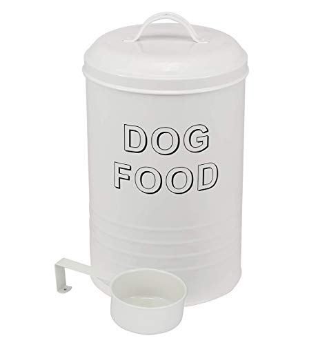 dog food containers Dog Food Container - Pets Good Dog Food Storage Canister, 4lbs Capacity - Scoop Included