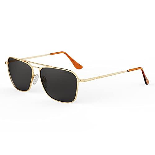 Randolph Herren Sonnenbrille Gold Gold/Grey Medium