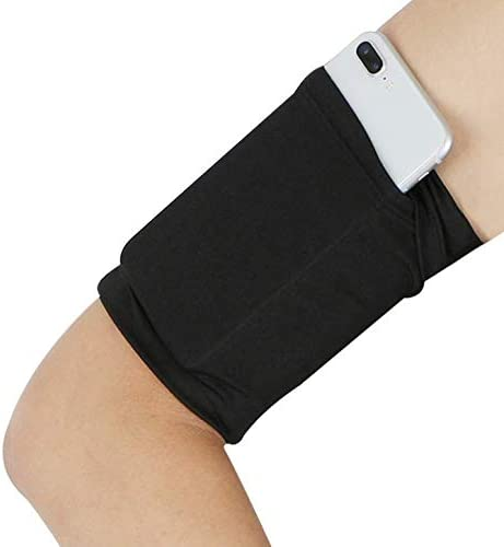 ebuymore Running Sports Soft Arm Band Strap Holder Gym Jogging Armband Sleeve for iPhone 11/11 Pro Max/iPhone X/XS/XR/XS Max / 8 Plus Without Case/Google Pixel 3a / 4 / OnePlus 7 / 7T / 6T
