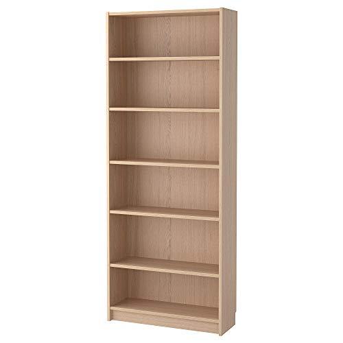 Estanterías ajustables de alta calidad chapado en madera de roble 80 x 28 x 202 cm, BILLY estantería para libros