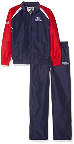 Londsdale Boxen Bekleidung Team Tracksuit, Navy/Red/White, XS