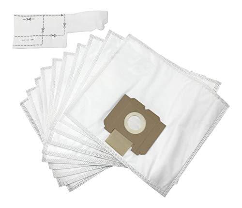 DREHFLEX - 10 Staubsaugerbeutel Fleece Stoff mit 1 Filter passend für AEG Gr. 28