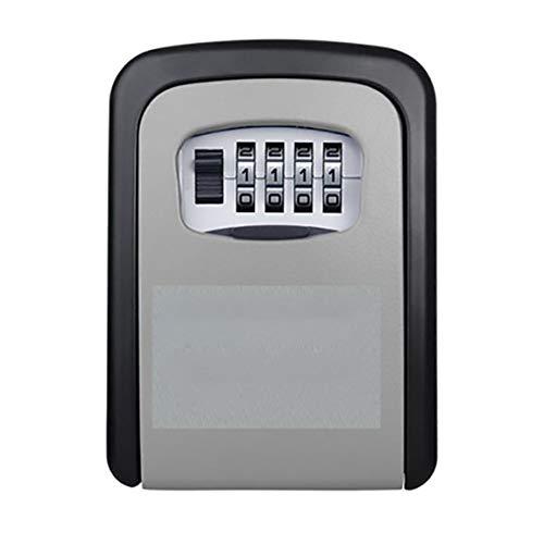 Ideal para el almacenamiento de llaves con un gran espacio de almacenamiento Renovación B & b Contraseña Caja de llaves Caja de almacenamiento de llaves de pared Caja de seguridad