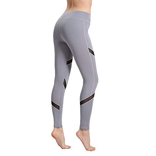 YHWW Leggings,Leggings Sexis para Mujer, Pantalones con diseño de Malla con inserción gótica, Pantalones, Talla Grande, Capris Negros, Ropa Deportiva, nuevos Leggings para Fitness, Gris, S