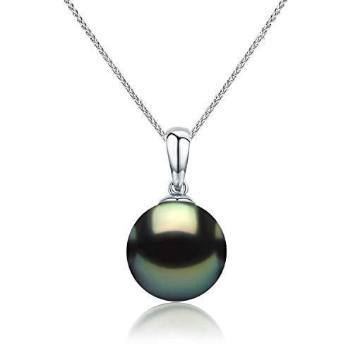 CHAULRI Real Gold Tahitian Black Pearl Pendant