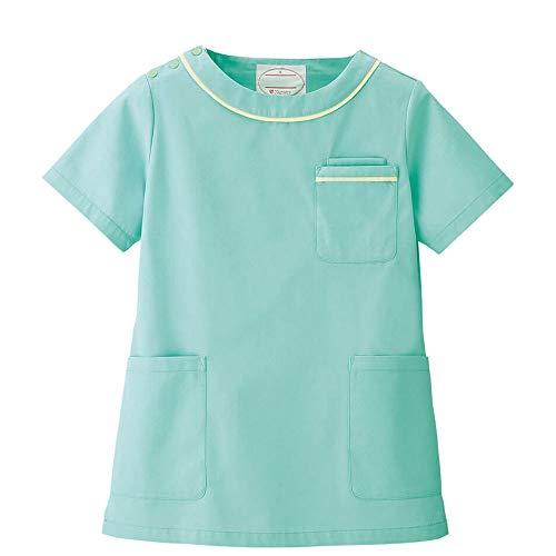 ナースリー ナースリースクラブ ガーリー 医療 ナース 看護師 白衣 女性 レディース 透け防止 UVカット S ミントグリーン 9202111A