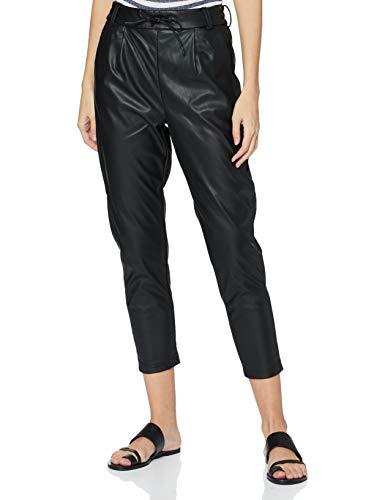 ONLY Damen ONLPOPTRASH Faux Leather Pant PNT Petit Hose, Black, M